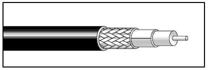 West Penn 25819 1000 RG59/U coax Cable, 20ga Plenum, 1000' 25819-1000