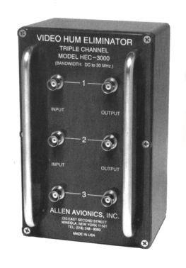 Allen Avionics HEC3000 3-Channel Video Hum Eliminator HEC3000