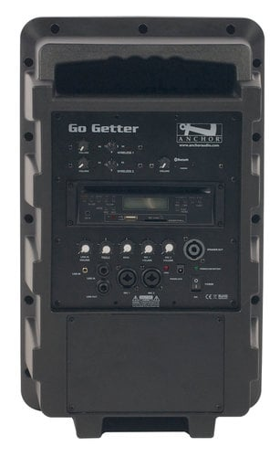 Anchor GG-8000CU2 Go Getter Portable PA System with (2) UHF Wireless Receivers, CD/MP3 Player and Bluetooth Connectivity GG-8000CU2