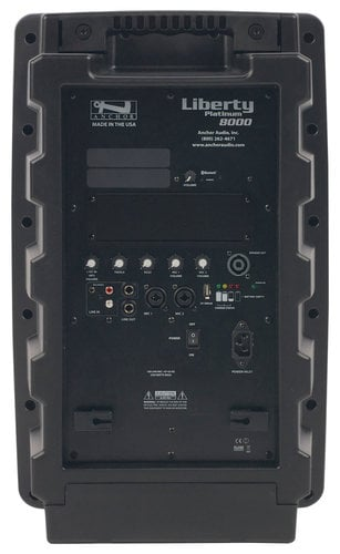 Anchor LIB-8000 Liberty Platinum Portable PA System with Rechargable Battery and Onboard Bluetooth LIB8000
