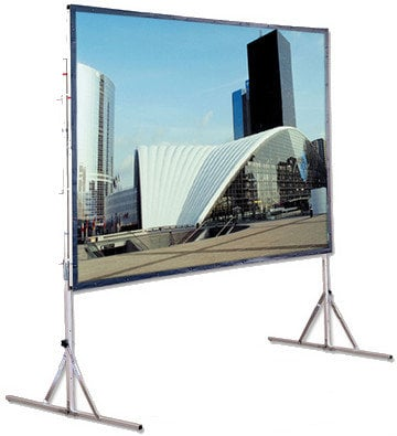 """Draper Shade and Screen 218187  113"""" (65"""" x 116"""") Cinefold Complete HDTV Screen with Legs 218187"""