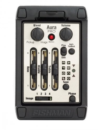 Fishman Aura Pro Onboard Wide Format Acoustic Guitar Preamp System PRO-MAT-P81
