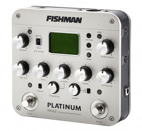 Fishman PRO-PLT-201 Platinum Pro EQ Analog Preamp Pedal PRO-PLT-201