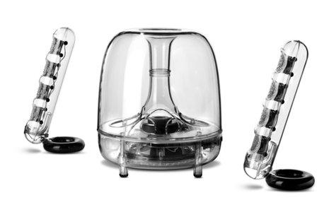 Harman Kardon SoundSticks Wireless Three-Piece Wireless Speaker System with Bluetooth SOUNDSTICKS-BTAM