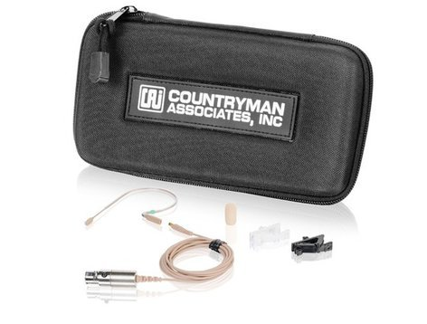 Countryman E2W5L1.5AN  E2 Earset Microphone in Light Beige with 4-Pin Hirose for Audio-Technica Wireless E2W5L1.5AN
