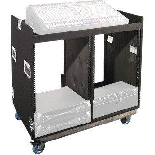 Grundorf Corp COMBO-D14CB 14RU Case Combo DualWide Combo Rack Case COMBO-D14CB
