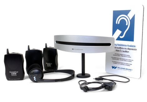 Williams Sound WIR-SYS-7522-PRO Infrared Assisted Listening System with (3) IR Bodypack Receivers WIR-SYS-7522-PRO