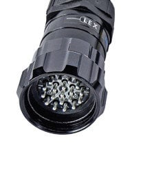 Lex Products Corp LSC19-LMC-36 19-Pin 6-Circuit LSC19 Male Inline Connector with Crimp Termination LSC19-LMC-36
