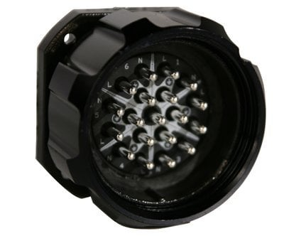 Lex Products Corp LSC19-PMC 19-Pin 6-Circuit Male Panel Mount Connector with Crimp Termination LSC19-PMC