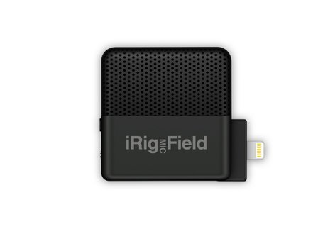 IK Multimedia iRig Mic Field Stereo Condenser Field Microphone with Lightning Connector for iOS Devices IRIG-MIC-FIELD