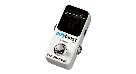 TC Electronic PolyTune 2 Mini Polyphonic Tuner Guitar Pedal POLYTUNE-2-MINI