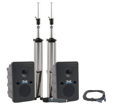 Anchor GG-DP  Go Getter Deluxe Portable PA Package with Unpowered Companion Speaker, Speaker Stands and Choice of Wireless Transmitter GG-DP