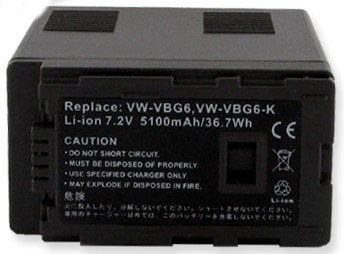 Empire Scientific BLI-393 7.2V 5100mAh Li-ion Battery Comparable to Panasonic VW-VBG6 , VW-VBG6K BLI393