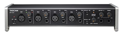 Tascam US-4x4 4 In/4 Out USB 2.0 Audio/MIDI Interface with HDDA Microphone Preamplifiers and iOS Compatibility US4X4