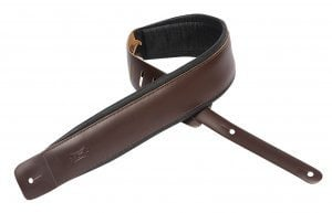 "Levys Leathers DM1PD 2.5"" Leather Guitar Strap with Foam Padding DM1PD"