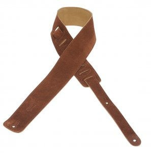 """Levys Leathers MS1 2.5"""" Suede Guitar Strap MS1-LEVYS"""