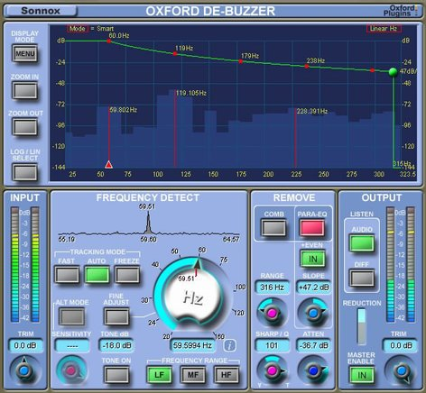 Sonnox Oxford DeBuzzer Buzz Removal Native Plugin OXFORD-DEBUZZER-NAT