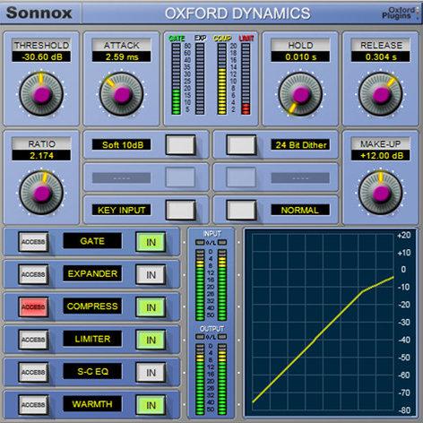 Sonnox Oxford Dynamics Dynamic Control HD-HDX Plugin OXFORD-DYNAM-HD-HDX