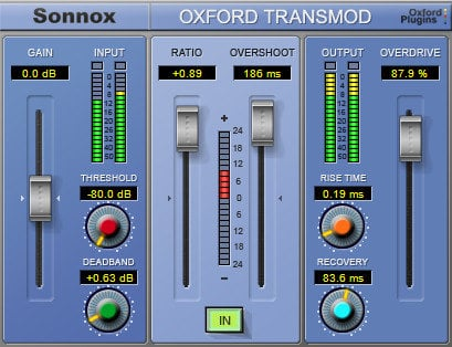 Sonnox Oxford TransMod Transient Modultation HD-HDX Plugin OXFORD-TRANSM-HD-HDX
