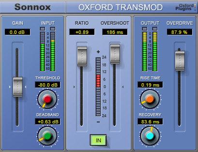 Sonnox Oxford TransMod Transient Modultation Native Plugin OXFORD-TRANSM-NATIVE