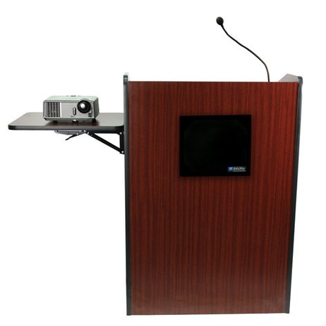 AmpliVox SS3235  Multimedia Presentation Podium with Wired Sound System SS3235