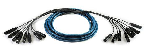 Whirlwind MT-6-F-M-10  10' 6-Channel Fan-Fan Snake MT-6-F-M-10