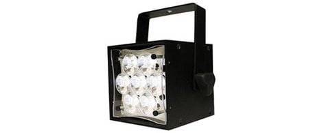 Rosco Laboratories Braq Cube WNC LED Spot/Profile White Light in White with Power Cord BRAQ-CUBE-WNC-WHITE