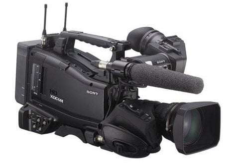"""Sony PXW-X500 XDCAM XAVC and HD422 2/3"""" CCD Shoulder-mount Memory Camcorder (Camera Body Only) PXW-X500"""