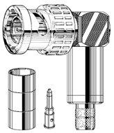 Canare BCP-LC3F Crimp Plug, BNC 75ohm  BCP-LC3F