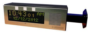 Advanced Network Devices IPCDS-RWB-IC  Double Sided Clock with Brackets and Red, White, and Blue Flashers IPCDS-RWB-IC