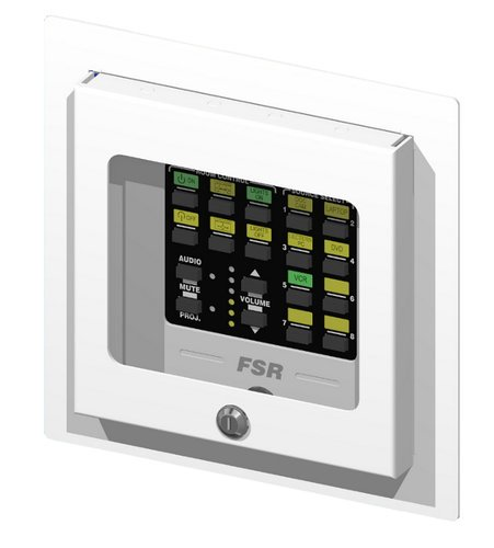 FSR, Inc WB-PR2G 2-Gang Recessed Covered Wall Box with Window WB-PR2G