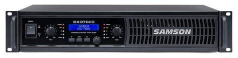 Samson SXD7000 Stereo Power Amplifier with DSP, 1000 Watts Per Channel at 4 Ohms SXD7000