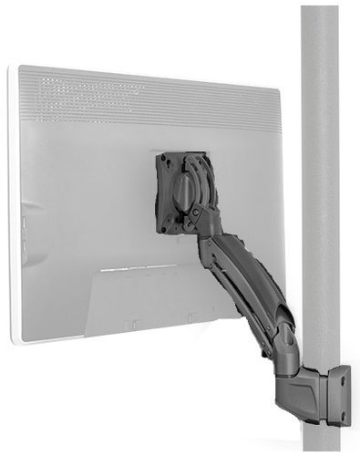 Chief Manufacturing K1P110B Kontour K1P Dynamic Pole Mount for Single Display in Black K1P110B