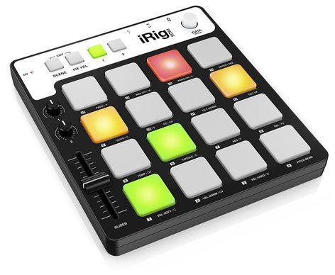 IK Multimedia iRig Pads 16 Pad MIDI Groove Controller for iOS Devices, Mac, PC IRIG-PADS