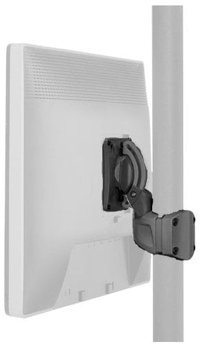 Chief Manufacturing K0P100B  K0 Pole Mount with Extreme Tilt Pitch/Pivot in Black K0P100B