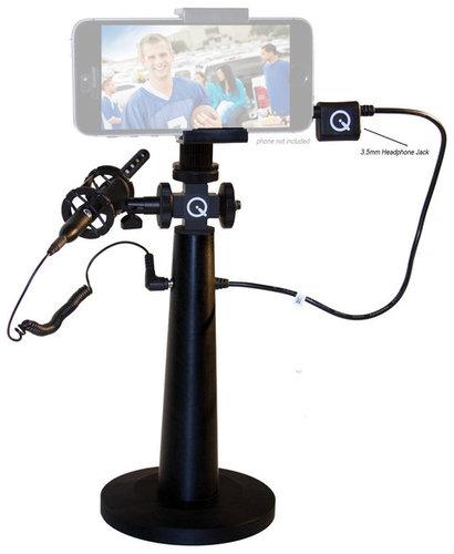 Que Audio IQ-RIG-W iQ-rig Smartphone Video Capture Accessory Kit with Shotgun Microphone, Mount, Handle and Windscreen IQ-RIG-W