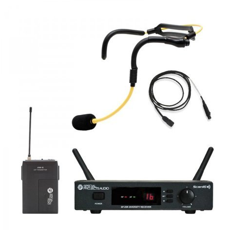 Special Projects SP-256-H20 Scan16 Fitness Pack H2O Wireless Headset Microphone System SP-256-H20