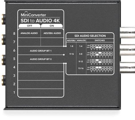 Blackmagic Design CONVMCSAUD4K Mini Converter SDI to Audio 4K CONVMCSAUD4K