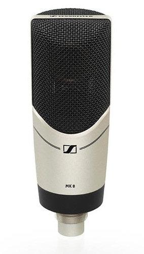 "Sennheiser MK 8 Multi-Pattern Condenser Microphone with Dual 1"" Capsules MK8-SENNHEISER"