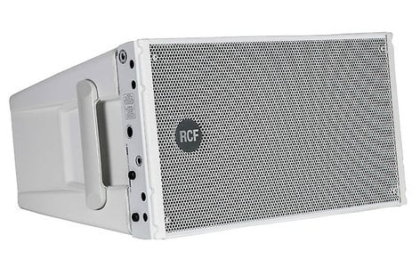 "RCF HDL 10-A-W 1400W Peak Dual 8"" Active Line Array Speaker Module in White HDL10-A-W"