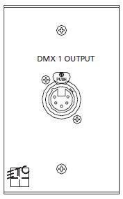 ETC/Elec Theatre Controls ECPB DMXIN Single Gang Wall Mount DMX In Remote Plug-In Wall Station ECPB-DMXIN