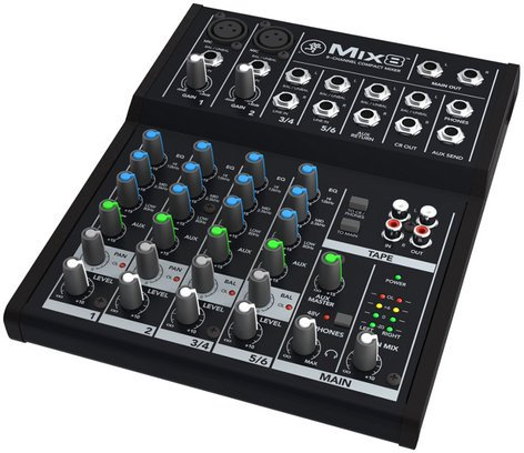Mackie MIX8 8 Channel Compact Mixer MIX8