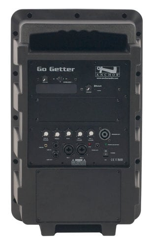 Anchor GG-8000U1 Go Getter Portable PA System with (1) UHF Wireless Receiver and Bluetooth Connectivity GG-8000U1