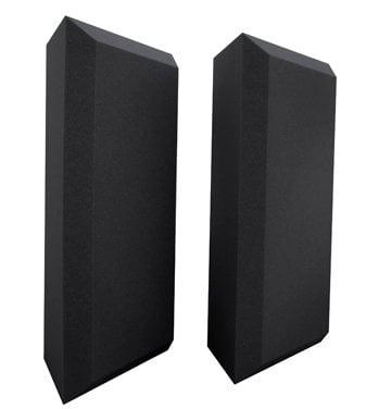 "Ultimate Acoustics UA-BTBG 1 Pair of 24"" H Acoustic Beveled Corner Bass Traps UA-BTBG"