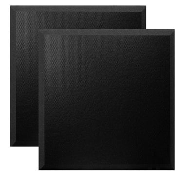 """Ultimate Acoustics UA-WPBV-24 1 Pair of 24""""x24""""x2"""" Beveled Wall Panels with Perforated Vinyl Covering UA-WPBV-24"""