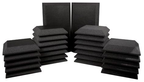Ultimate Acoustics UA-KIT-SB3 26-Piece Studio Bundle III - 2 Corner Bass Traps, 12 Beveled Wall Panels, 12 Beveled Wall Panels with Vinyl Coating UA-KIT-SB3G
