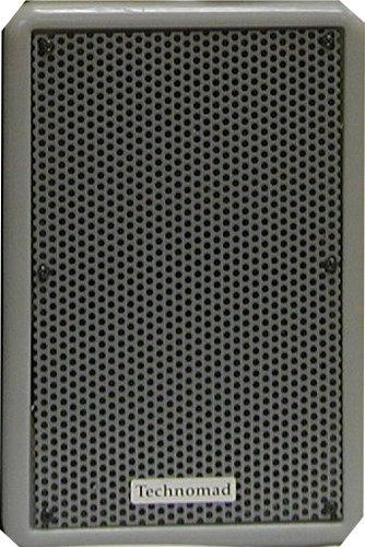 Technomad PARIS-616T-GREY 2-Way Speaker with Transformer in Grey, Tour Model PARIS-616T-GREY