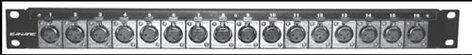 Canare 161U-X12F Panel with 8-XLRF-3, 8-XLRM-3 161U-X12F
