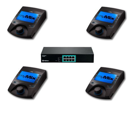MyMix Mix Pack 4 4 myMix Unit Package with 1x TPE-S80 PoE Switch MIXPACK4
