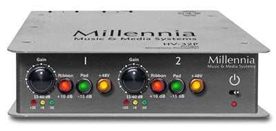 Millennia Media Inc HV-32P 2-Channel Portable Microphone Preamplifier HV32P